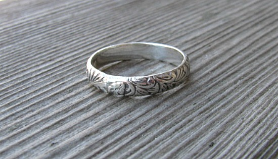 SS  floral ring