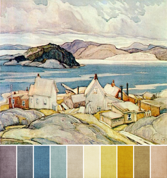 june 2013 - franklin carmichael - jackknife village - palette 2
