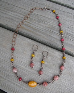 library necklace set