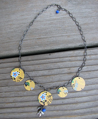 Tin necklace
