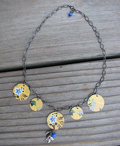 Tin necklace
