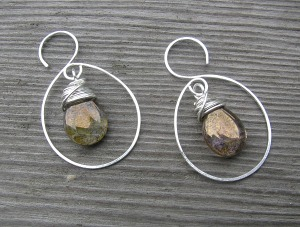 Wrapped glass hoops