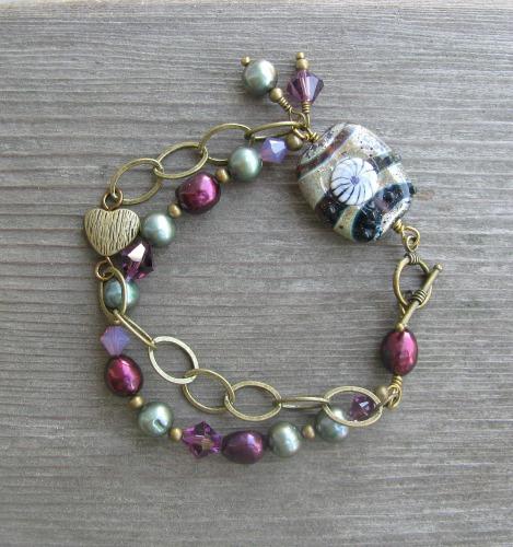 lampwork bead bracelet 2
