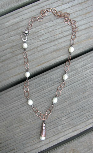 pearls and copper