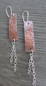floral copper with chain