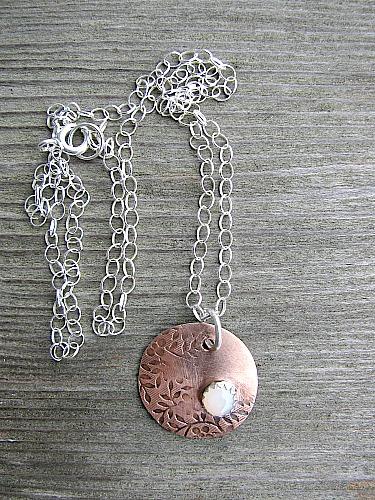 Opal set pendant