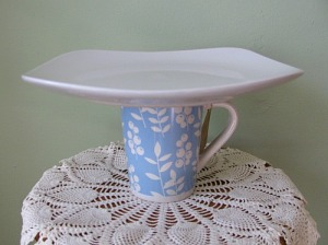 blue cup plate