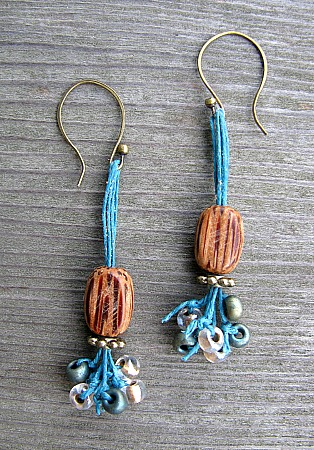 Nut brown earrings 2