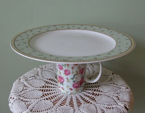 Roses cup and plate