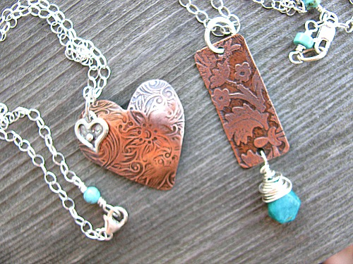 Copper pendants 2