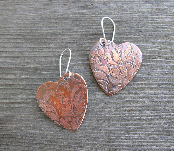 Flame etched hearts