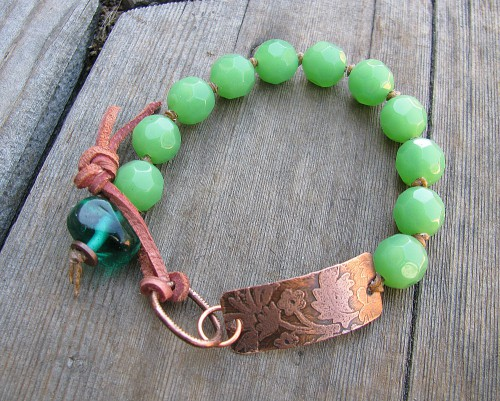 copper bargreen bracelet