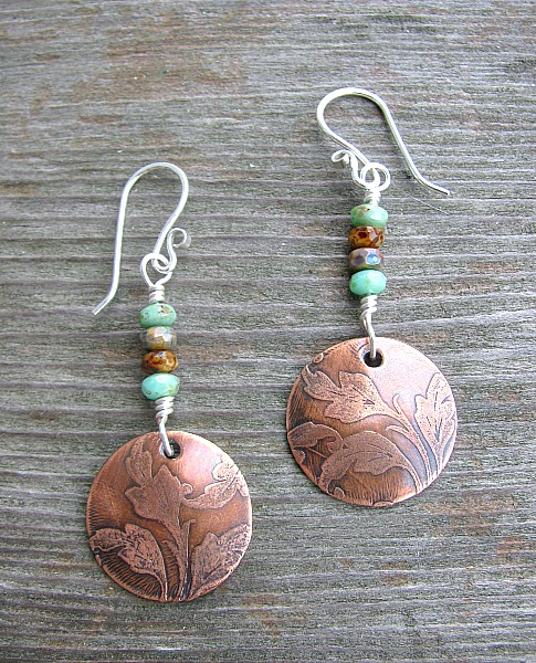 copper flower discs