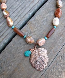 copper leaf close up