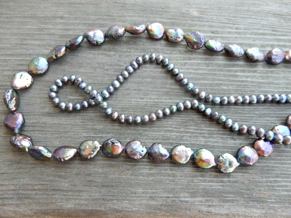 Two pearl strands