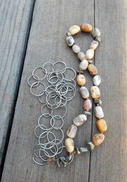 agate and pyrite necklace 2