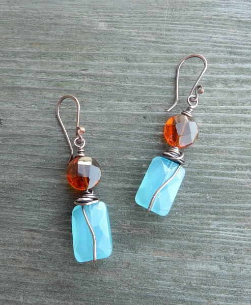 Copper and chalcedony