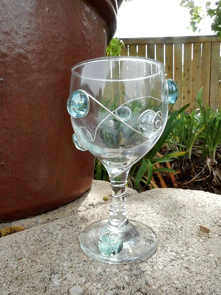 beaded wineglass