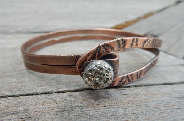silver button bangle 2