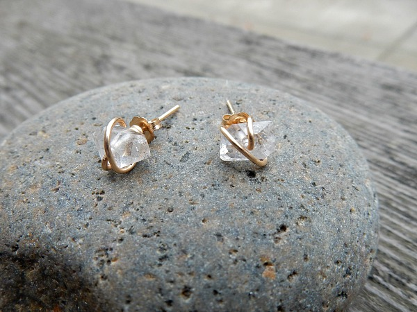 herkimer-diamond-studs