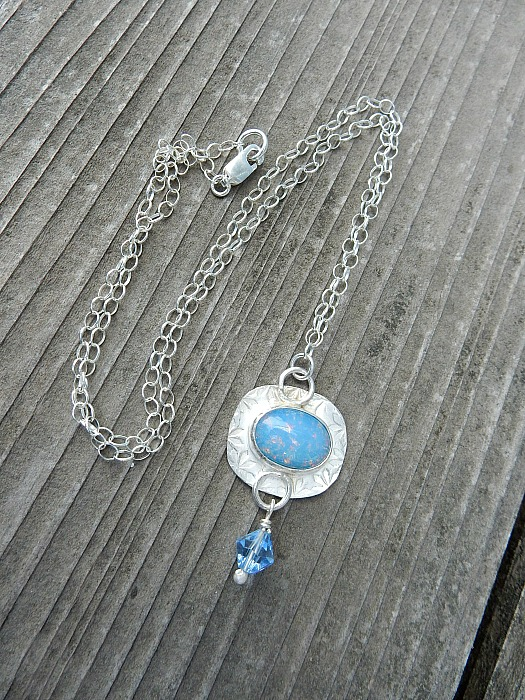 glass opal necklace