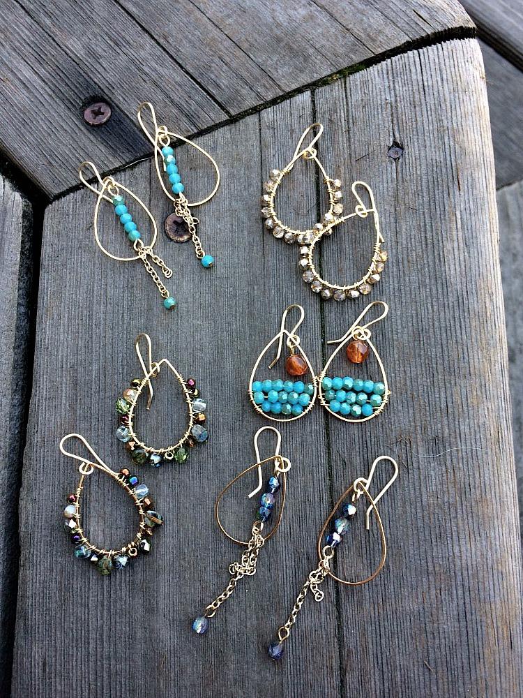 five earrings